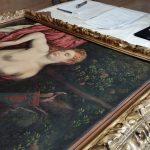 Paris Bordon, Venere dormiente con amorino, olio su tela, cm. 86 x 137, cat. d. 39