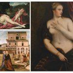 """Quattro donne per il Giappone (due nude, due velate). Opere prestate dalla Galleria Franchetti alla mostra """"Venetian Renaissance Paintings"""""""